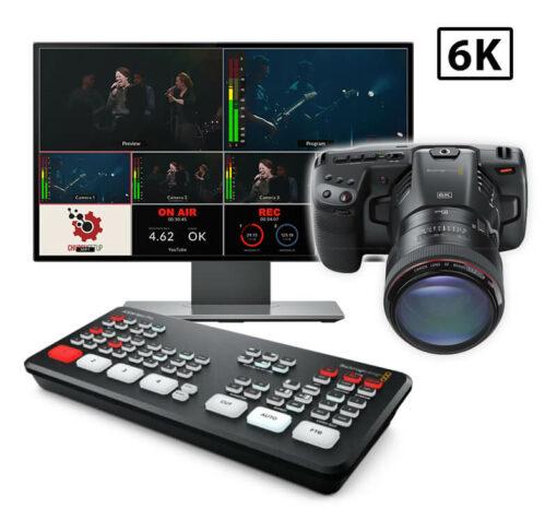 6K Pocket Cinema Atem Mini Live Streaming Kit