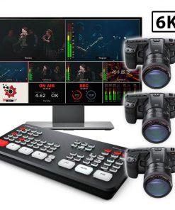 3-Camera 6K Pocket Cinema and ATEM Mini Streaming Kit