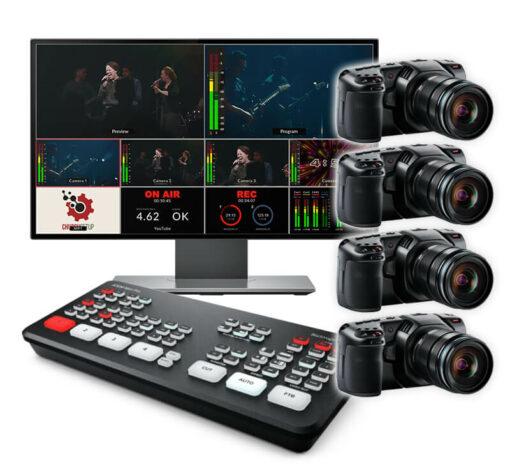4 Pocket Cinema Live Streaming ATEM Mini Pro Kit